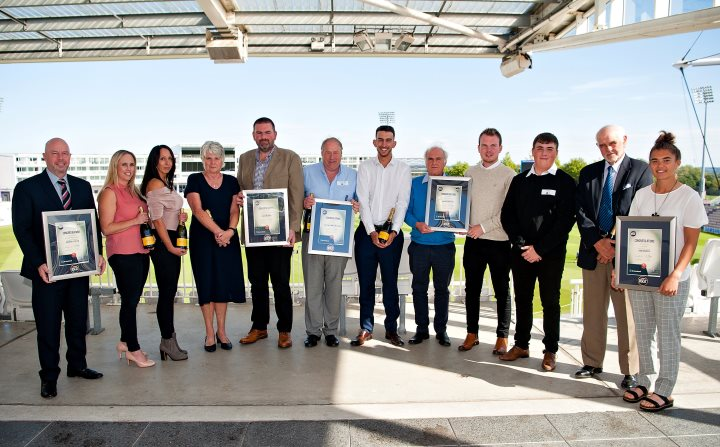 Hampshire NatWest OSCA (Outstanding Service to Cricket Award) winners 2018 [pic: Dave Vokes]